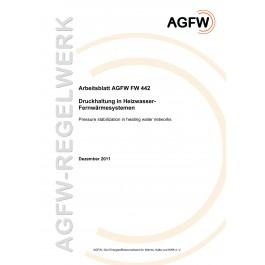 FW 442 - Druckhaltung in Heizwasser-Fernwärmenetzen