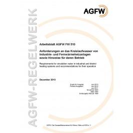 FW 510 - Anforderungen an das Kreislaufwasser von Industrie- und Fernwärmeheizanlagen sowie Hinweise für deren Betrieb