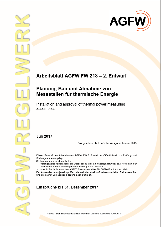 FW 218 2. Entwurf - Planung, Bau und Abnahme von Messstellen für ...