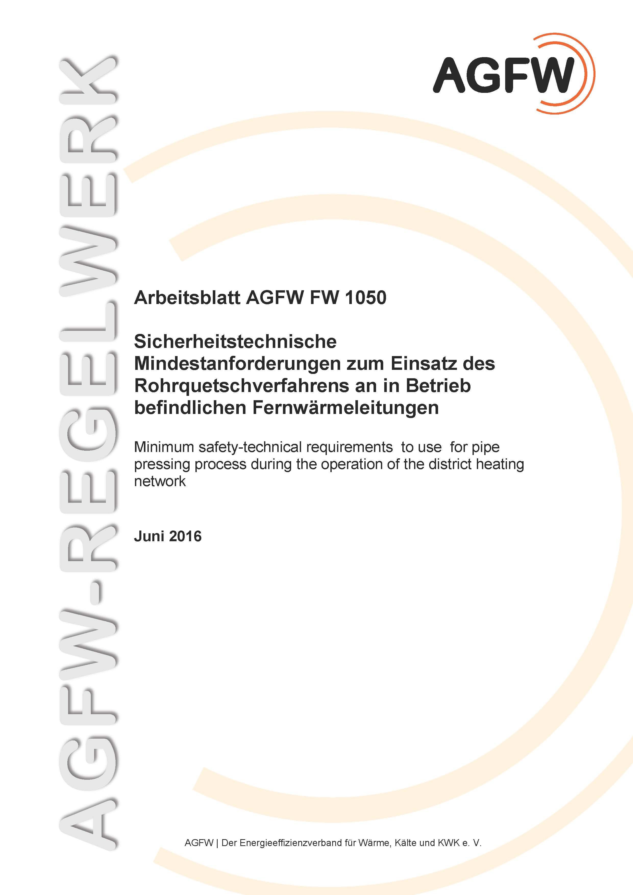 FW 1050 - Sicherheitstechnische Mindestanforderungen zum Einsatz des ...
