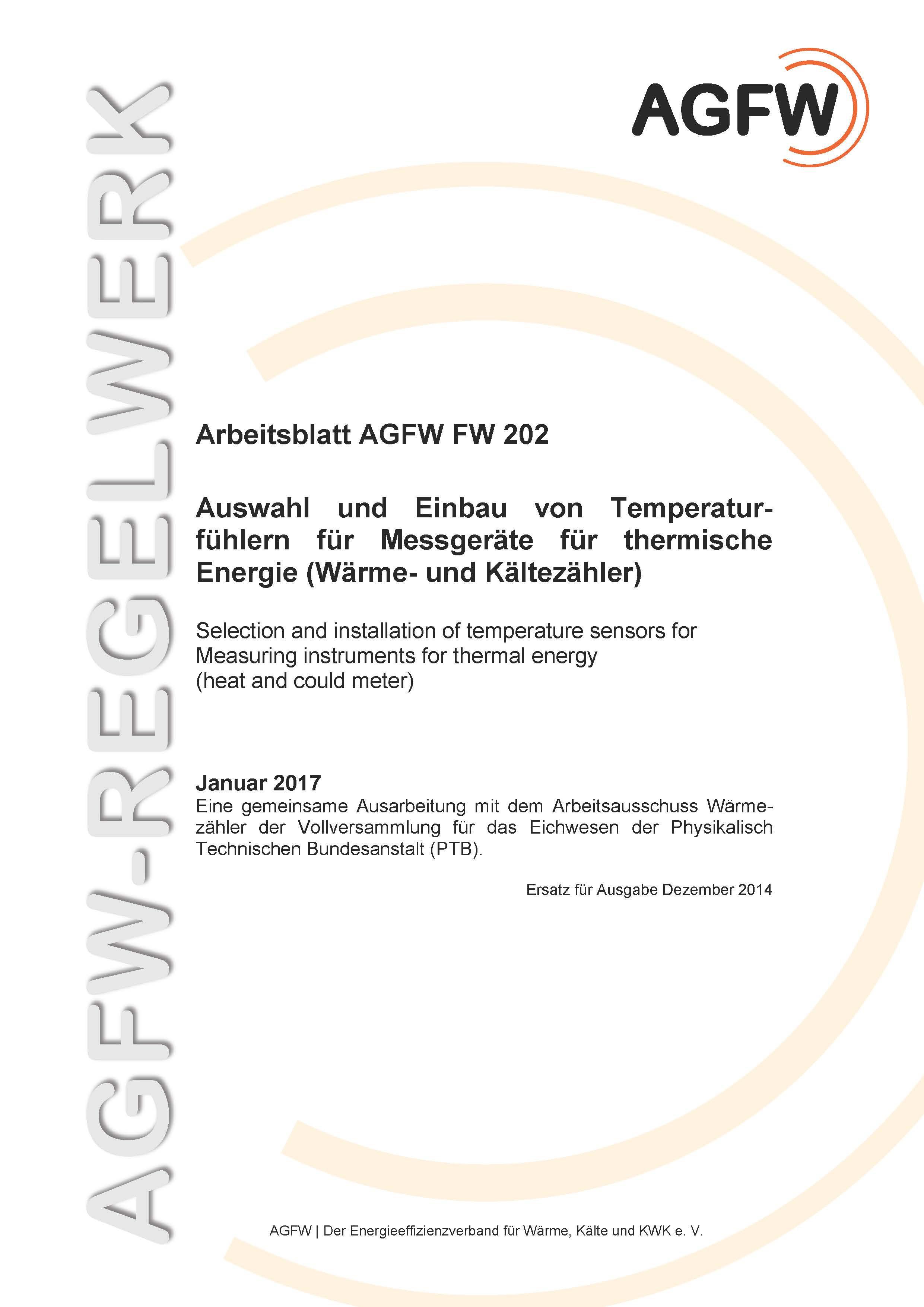 FW 202 - Auswahl und Einbau von Temperaturfühlern für Messgeräte für ...