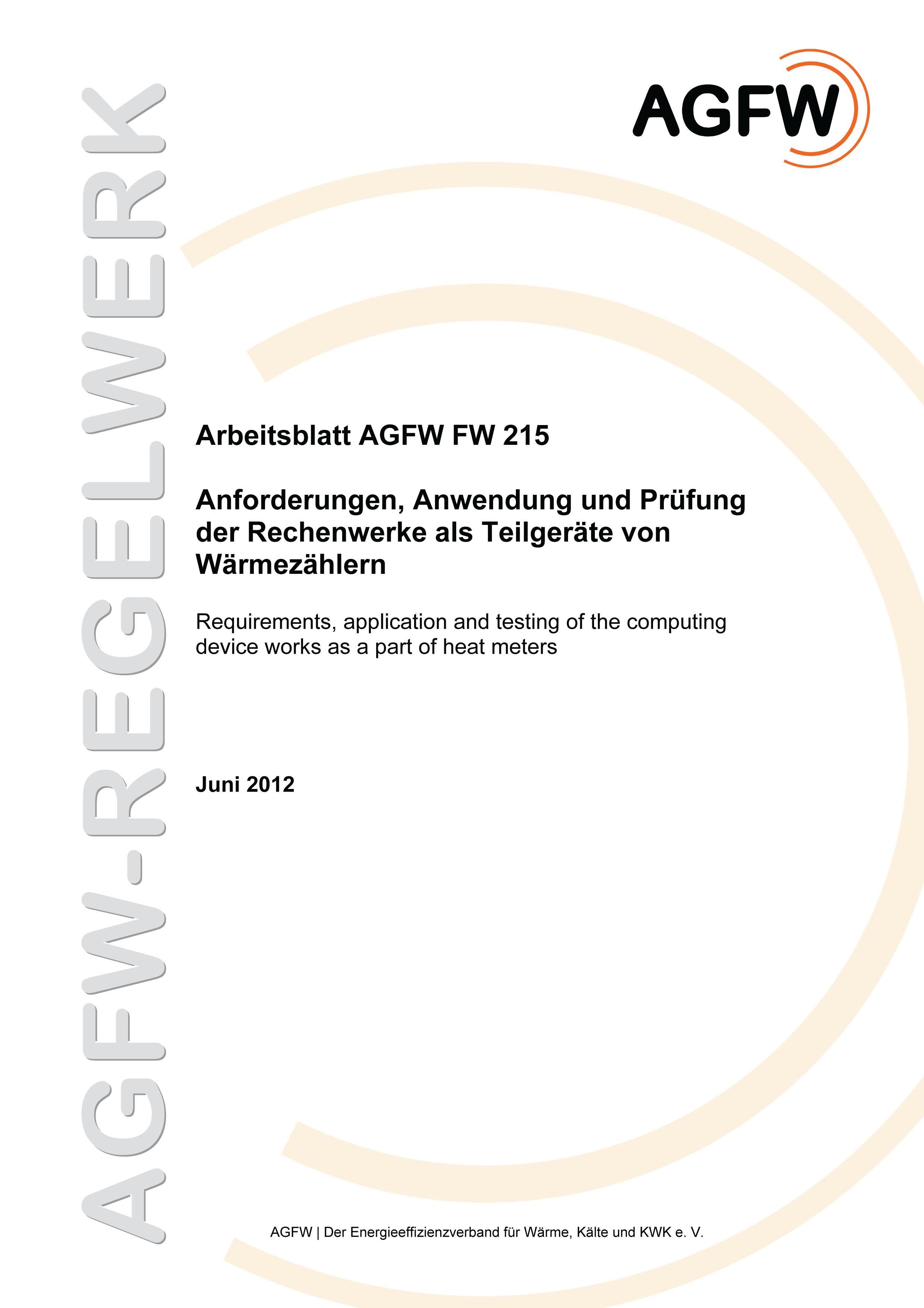 FW 215 - Anforderungen, Anwendung und Prüfung der Rechenwerke als ...