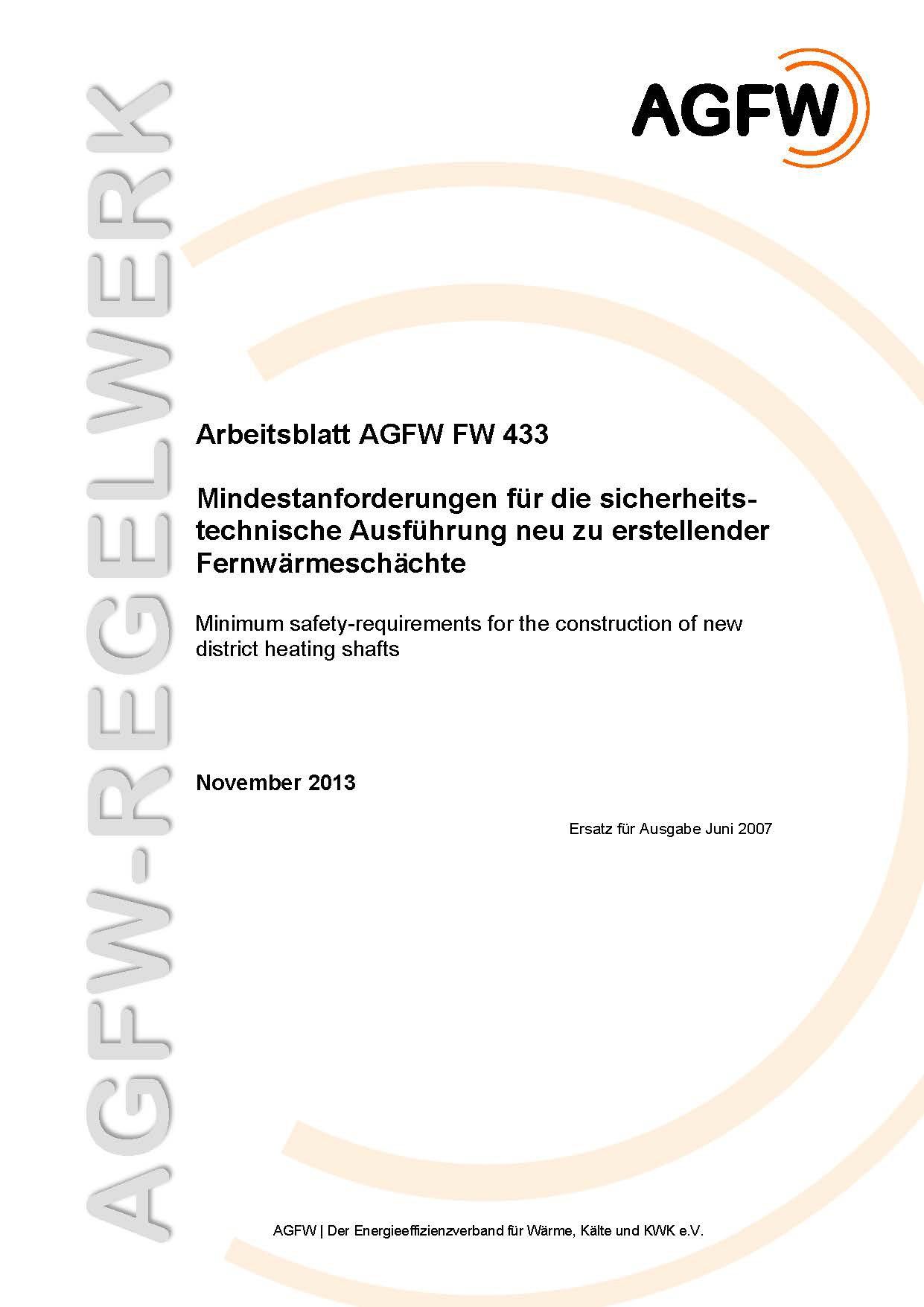 FW 433 - Mindestanforderungen für die sicherheitstechnische ...