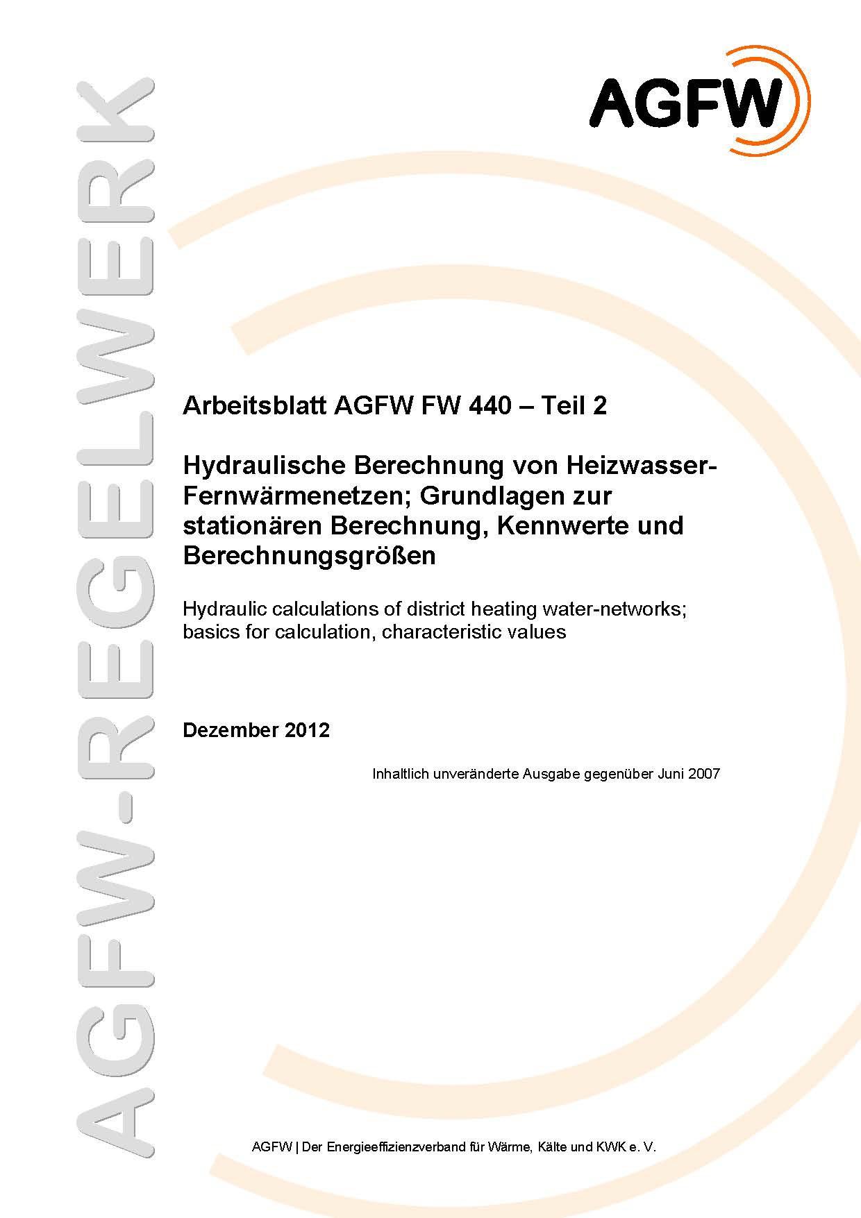 FW 440 Teil 2 - Hydraulische Berechnung von Heizwasser ...