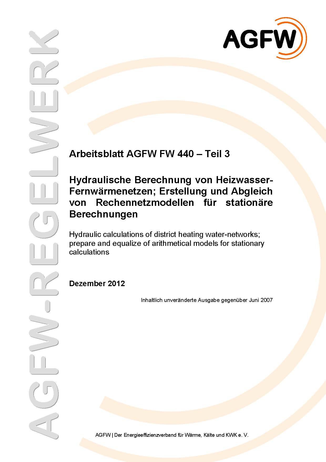 FW 440 Teil 3 - Hydraulische Berechnung von Heizwasser ...