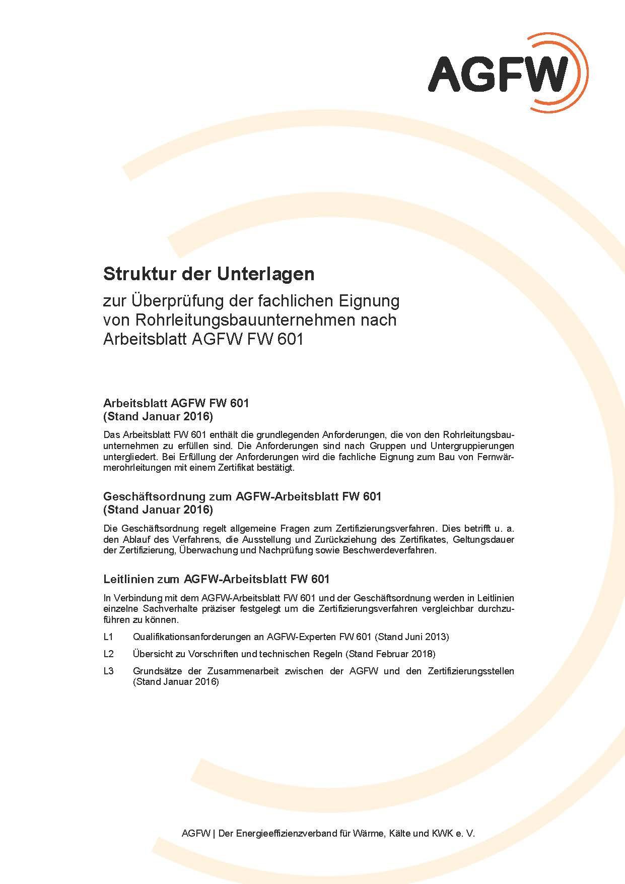 FW 601 - Unternehmen zur Errichtung, Instandsetzung und Einbindung ...