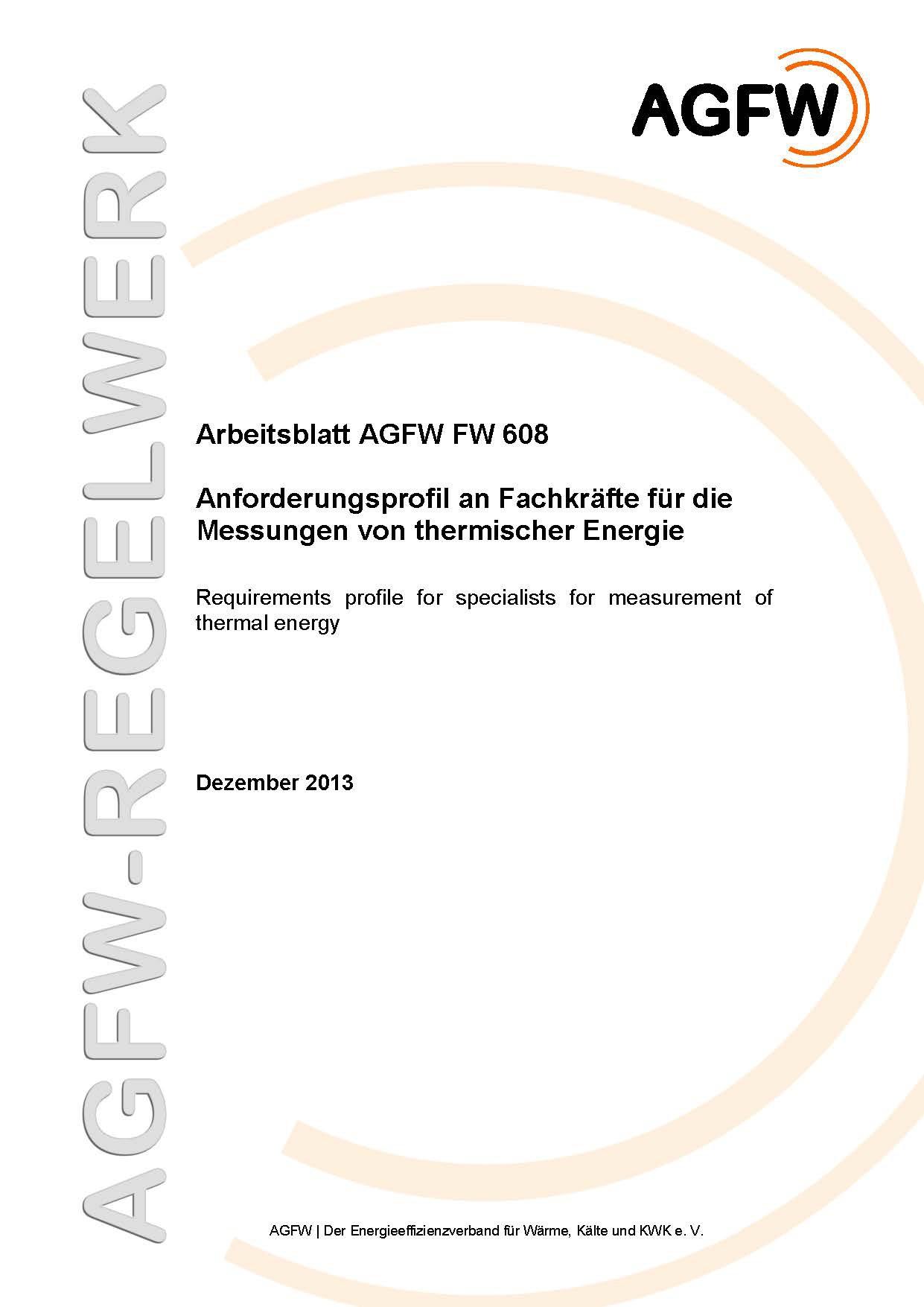 FW 608 - Anforderungsprofil an Fachkräfte für die Messungen von ...