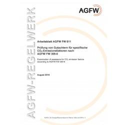 FW 611 - Prüfung von Gutachtern für spezifische CO2-Emissionsfaktoren nach AGFW FW 309-6
