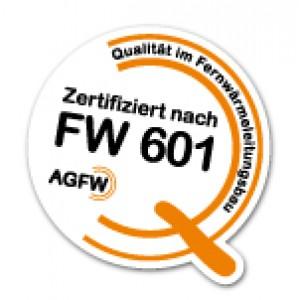 """Aufkleber """"Zertifiziert nach FW 601"""" als Folienschnitt für Fahrzeuge - Größe 20 x 20 cm"""