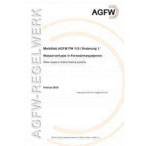 FW 115 Änderung 1 - Wasserverluste in Fernwärmesystemen