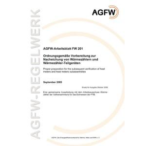 FW 201 - Ordnungsgemäße Vorbereitung zur Nacheichung von Wärmezählern und Wärmezähler-Teilgeräten