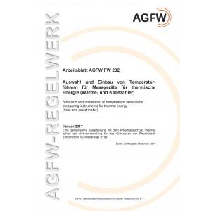 FW 202 - Auswahl und Einbau von Temperaturfühlern für Messgeräte für thermische Energie (Wärme- und Kältezähler)