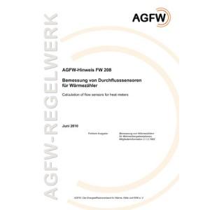FW 208 - Bemessung von Durchflusssensoren für Wärmezähler