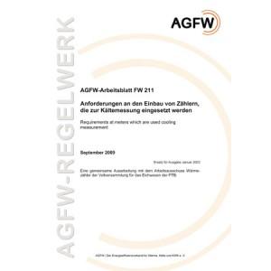 FW 211 - Anforderungen an den Einbau von Zählern, die zur Kältemessung eingesetzt werden