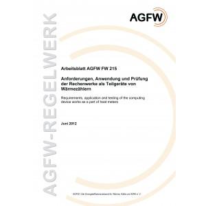 FW 215 - Anforderungen, Anwendung und Prüfung der Rechenwerke als Teilgeräte von Wärmezählern
