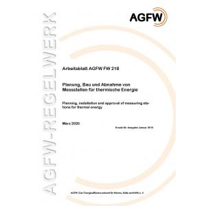 FW 218 - Planung, Bau und Abnahme von Messstellen für thermische Energie – inklusive Beiblatt 1: Messabweichungen verringern