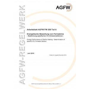 FW 309 Teil 6 - Energetische Bewertung von Fernwärme - CO2-Emissionen der Wärmelieferung