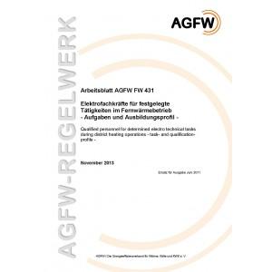 FW 431 - Elektrofachkräfte für festgelegte Tätigkeiten im Fernwärmebetrieb - Aufgaben- und Ausbildungsprofil