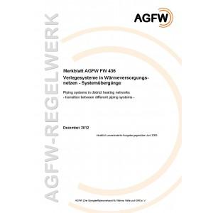 FW 436 - Verlegesysteme in Wärmeversorgungsnetzen - Systemübergänge