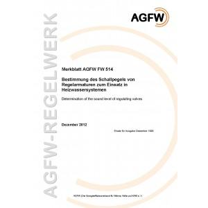 FW 514 - Bestimmung des Schallpegels von Regelarmaturen zum Einsatz in Heizwassersystemen