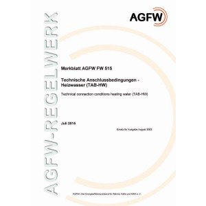 FW 515 - Technische Anschlussbedingungen Heizwasser (TAB-HW)