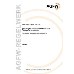 FW 530 - Maßnahmen zur Erreichung niedriger Rücklauftemperaturen