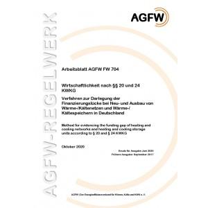 FW 704 - Wirtschaftlichkeit nach §§ 20 und 24 KWKG - Verfahren zur Darlegung der Finanzierungslücke bei Neu- und Ausbau von Wärme-/Kältenetzen und Wärme-/Kältespeichern in Deutschland