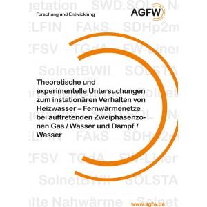Theoretische und experimentelle Untersuchungen zum instationären Verhalten von Heizwasser - Fernwärmenetze bei auftretenden Zweiphasenzonen Gas/Wasser und Dampf/Wasser