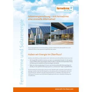 """Kurzbroschüre """"Fernwärme und Solarenergie"""""""