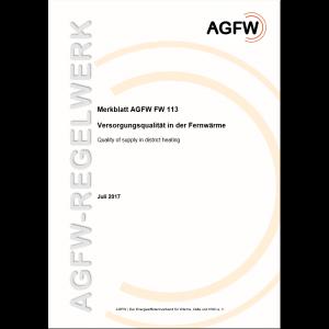 FW 113 - Versorgungsqualität in der Fernwärme