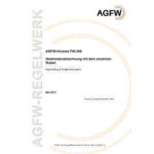 FW 206 - Heizkostenabrechnung mit dem einzelnen Nutzer