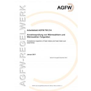 FW 214 - Annahmeprüfung von Wärmezählern und Wärmezähler-Teilgeräten