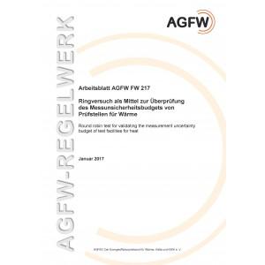 FW 217 - Ringversuch als Mittel zur Überprüfung des Messunsicherheitsbudgets von Prüfstellen für Wärme