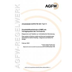 FW 401 Teil 11 - Kunststoffmantelrohre (KMR) als Verlegesystem der Fernwärme  - Diagramme und Tabellen zur rohrstatischen Bemessung