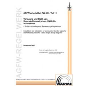 FW 401 Teil 11 - Verlegung und Statik von KMR in Fernwärmenetzen - Statische Auslegung; Bemessungsdiagramme