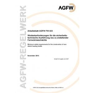 FW 433 - Mindestanforderungen für die sicherheitstechnische Ausführung neu zu erstellender Fernwärmeschächte