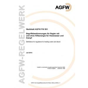 FW 501 - Begriffsbestimmungen für Regler mit oder ohne Hilfsenergie für Heizwasser und Dampf