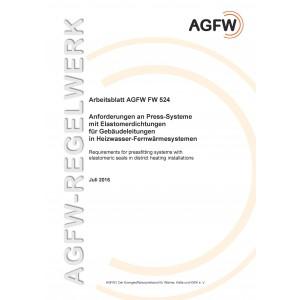 FW 524 - Anforderungen an Press-Systeme in Heizwasser-Fernwärmesystemen