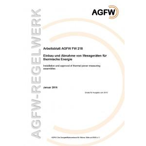 FW 218 - Einbau und Abnahme von Messgeräten für thermische Energie