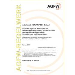 FW 531 - Anforderungen an Werkstoffe und Verbindungstechniken für von Heizwasser durchströmte Anlageteile in Hausstationen und Hausanlagen