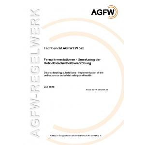 FW 528 - Fernwärmestationen - Umsetzung der Betriebssicherheitsverordnung