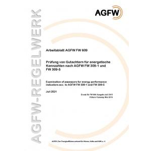 FW 609 - Prüfung von Gutachtern für energetische Kennzahlen nach AGFW FW 309-1 und FW 309-5