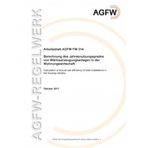 FW 314 - Berechnung des Jahresnutzungsgrades von Wärmeerzeugungsanlagen in der Wohnungswirtschaft
