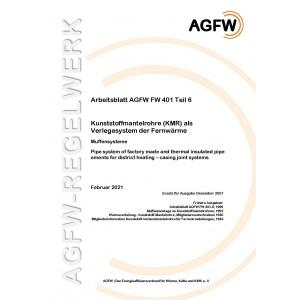 FW 401 Teil  6 - Kunststoffmantelrohre (KMR) als Verlegesystem der Fernwärme - Muffensysteme